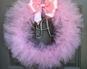 Pink Tutu Wreath