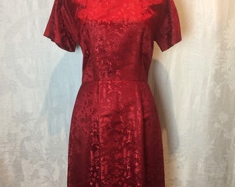 33. VINTAGE- Red Cheongsam Qipao Inspired Dress
