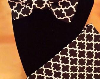 Black Lattice Bowtie 3 pc set