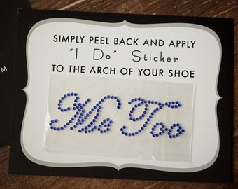 Me Too Rhinestone Shoe Stickers for Brides, Wedding Shoes Sticker, Bridal Details, Something Blue | ROYAL BLUE