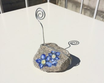 Forget-me-not Rock Photo Holder