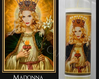 Madonna Queen of Heaven Prayer Candle