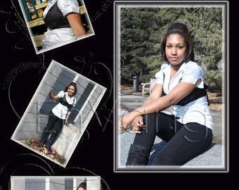Photo Collage - Black Hearts
