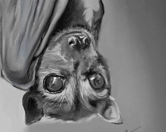Hanging Bat-Print