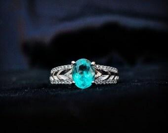 Paraiba Apatite Vivid Ring