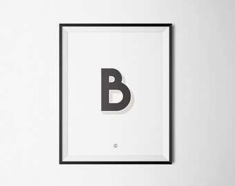 minimalist typogrphy print poster - B