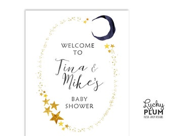 Twinkle Star Welcome Sign / Star Welcome Sign / Gender Reveal Welcome Sign