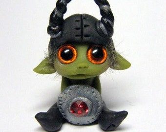 OOAK Miniature Goblin Guard Finnley the Brave by Amber Matthies