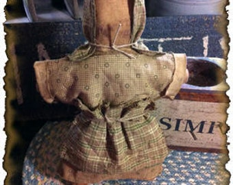 MAILED PAPER PATTERN~Primitive Prairie Doll Tuck Sewing Pattern