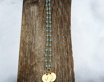 MAMA Love MALA Rosary chain 108 chalcedony, Buddhist Prayer Beads Yoga Necklace Tibetan Meditation necklace Buddha Necklace energy aqua gold