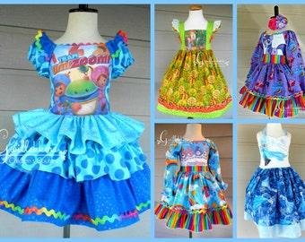 You Design It Custom Boutique Character Dresses  Size 2 3 4 5 6 7 8