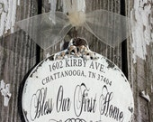 ADDRESS CHRISTMAS ORNAMENT | Personalized Ornament | New Home Christmas Ornament | Bless Our First Home Christmas Ornament | Realtor Gift