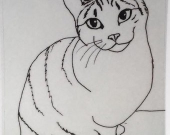 Tabby Cat Vinyl Sticker
