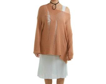 NORMAL KILLS Original Trinity Sweater in Peach
