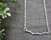 ONE OF A KIND | Collana Ramo, collana minimal sottile conciondolo a forma di ramo