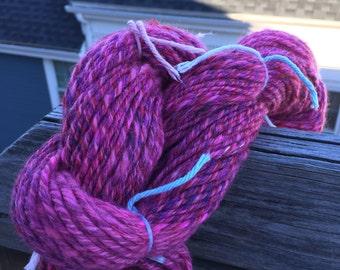 SWINE BLADDER - 114 yards Handspun Merino, Silk, Alpaca, Linen worsted weight yarn