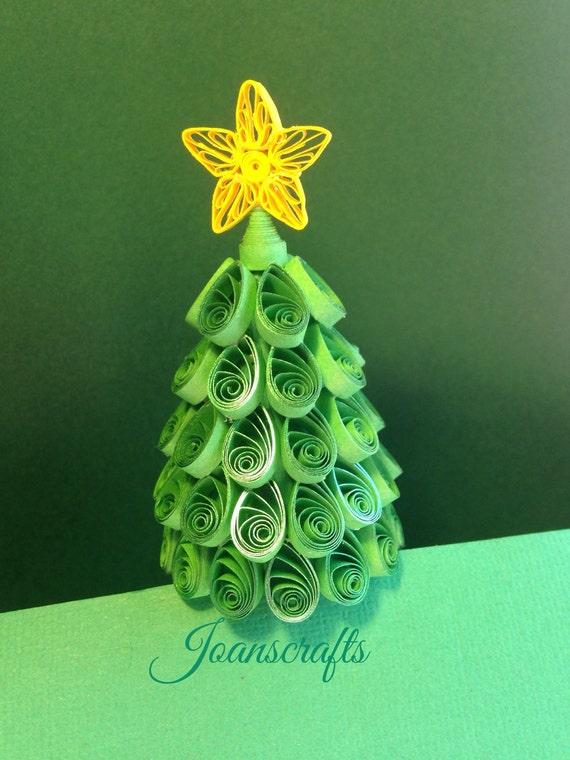 Quilling, Glistening Green, Miniature Christmas Tree
