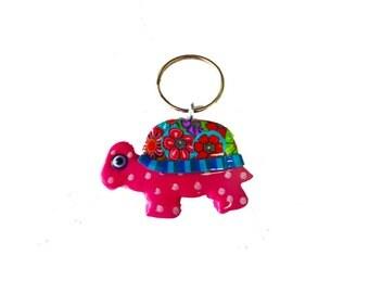 Turtle key chain, key chain, keychain, key holder, unique key chain, bag decorate, key chain for woman, cute key chain, turtle  key ring