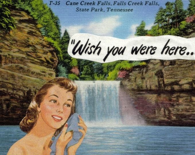 Wish You Were Here Postcard Art