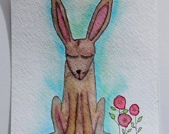 Bunny Rabbit Art Original