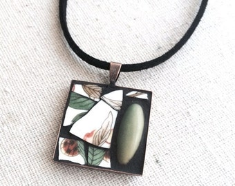 Through the Woods Mosaic Art Pendant