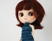 Middie Blythe doll band collar tank top sweater knitting PATTERN - halter top sweater - instant download - permission to sell finished items