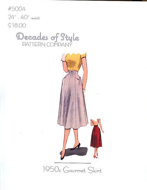 1940s Sewing Patterns – Dresses, Overalls, Lingerie etc 1940 Arches Skirt $18.00 AT vintagedancer.com