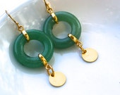 Linked Loops of Green Jade Loop de Loop earrings...