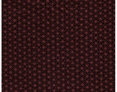HALF YARD - STOF Fabrics - Glimmering - Asanoha Copper Metallic on Black - 4592-907