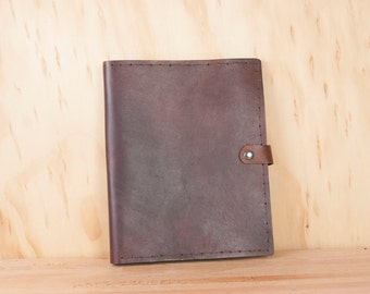 Leather iPad Case - Handmade in Chocolate Brown Leather - Hand dyed for iPad or iPad Air