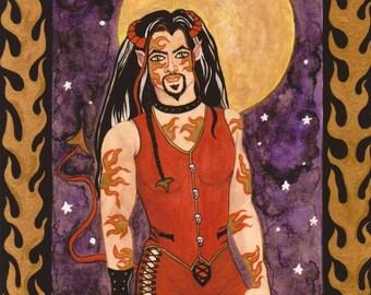Original Watercolor Painting, Fantasy Painting, Fantasy Artwork, Sexy Male Art, Gay Male Art, Gay Art, Gothic Art, Fantasy Man, Tattoo