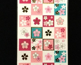 Cherry Blossom Stickers - Japanese Stickers - Sakura Stickers - Pink Stickers - Flower Stickers S225