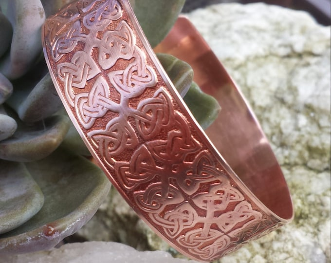 Celtic Bracelet, Celtic Cuff Bracelet, Copper Cuff, Copper Jewelry, Celtic Wedding, Unisex Jewelry, Jewelry Gift, Celtic Jewelry