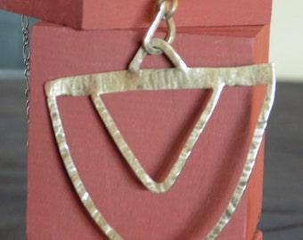 Argentium Silver Geometric Necklace