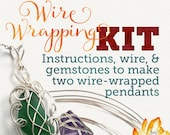 Wire-Wrapping Kit: 4-Strand Braid Parts 1 & 2 - PDF + Materials