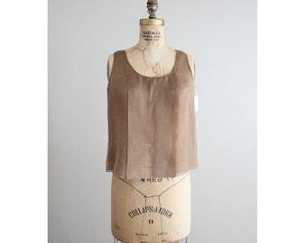 silk organza top / 1990s douglas hannant / organza blouse