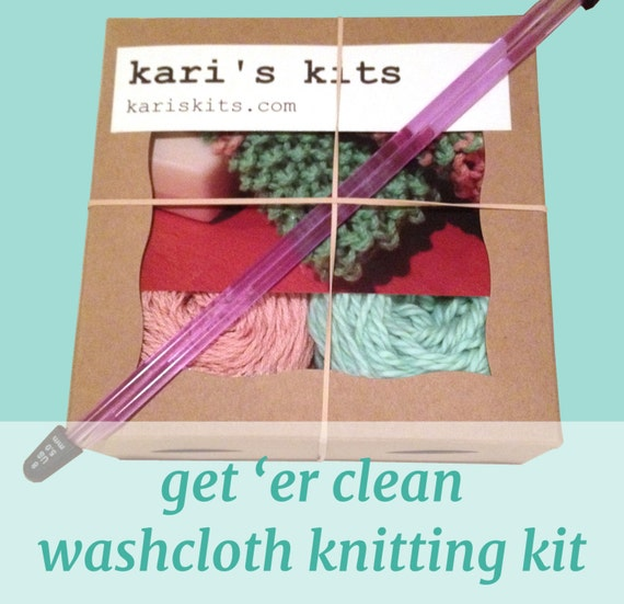 Knitting Kit For Beginners Singapore : Beginner knitting kit diy washcloth free by