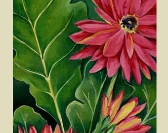 Gerbera Daisy Triptych