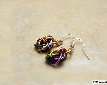 Chainmaille Earrings Endless Knot Chainmaille Love Knot Earrings E-2011-07