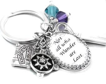 Keychain, Quote Keychain, Key Chain Jewelry, Crystal Keyring, Verse Key Chain, Keyring, Key Holder