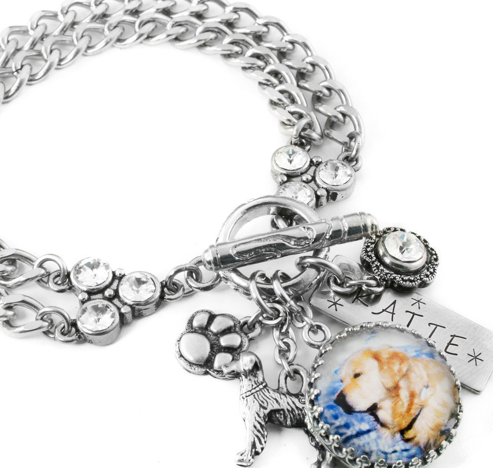 Personalized Bracelet Charms: Personalized Pet Memorial Jewelry Custom Pet By