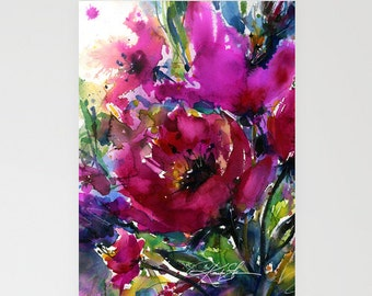 Jubilation - Beautiful Blank Floral Greeting Cards from Original art by Kathy Morton Stanion EBSQ