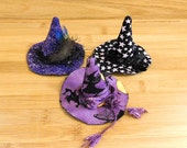 Purple Witch Hat Ornament Bowl Filler Halloween Decorations