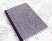Bullet Journal - Large Purple Linen Notebook with Dotted Grid Pages - Soft Covers