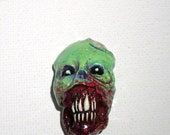 Toxic Undead Horror Skull Zombie Head Pendant
