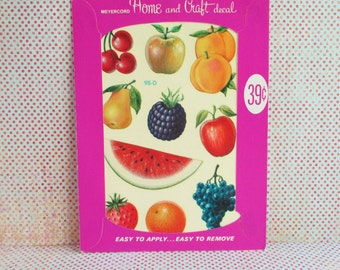 Vintage Meyercord Decal - Fruits - NOS