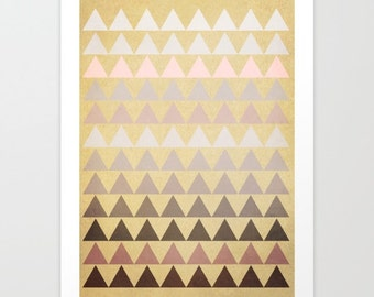 Muted Triangles art print-Abstract art - geometric- triangles-modern-beige-soft tones-pastels-abstract wall art- home decor