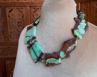Rough cut, asymmetrical natural beauty! One of a kind beautiful colors!