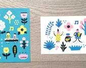 Garden Concert Postcard (set of 2)