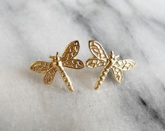 Dragonfly Earrings, Insect Jewelry, Outlander Jewelry, Woodland, Gift for Her, Dragonfly Jewelry, Sterling Silver Hypoallergenic (E270)